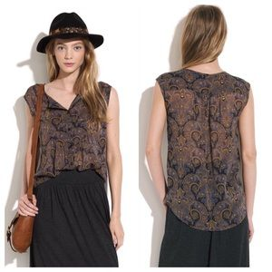 Madewell Broadway & Broome silk blouse. Size (L).